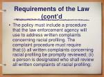 requirements of the law cont d5