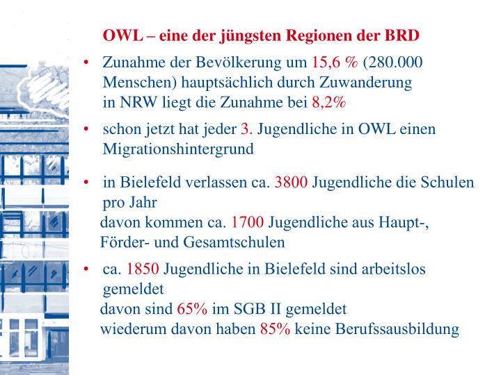 OWL – eine der jüngsten Regionen der BRD