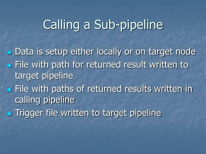 Calling a Sub-pipeline
