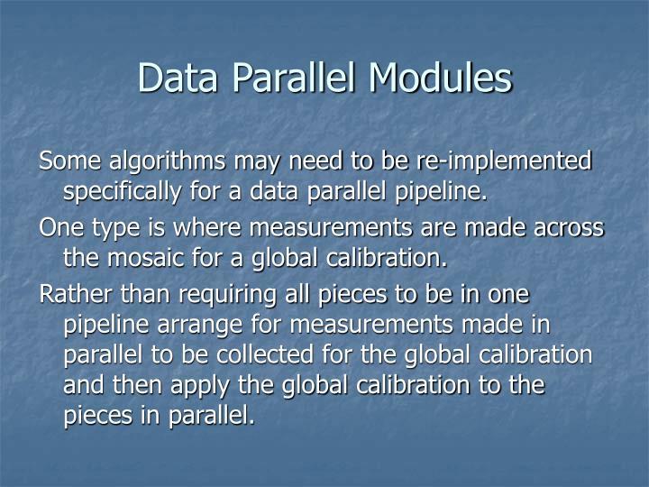 Data Parallel Modules
