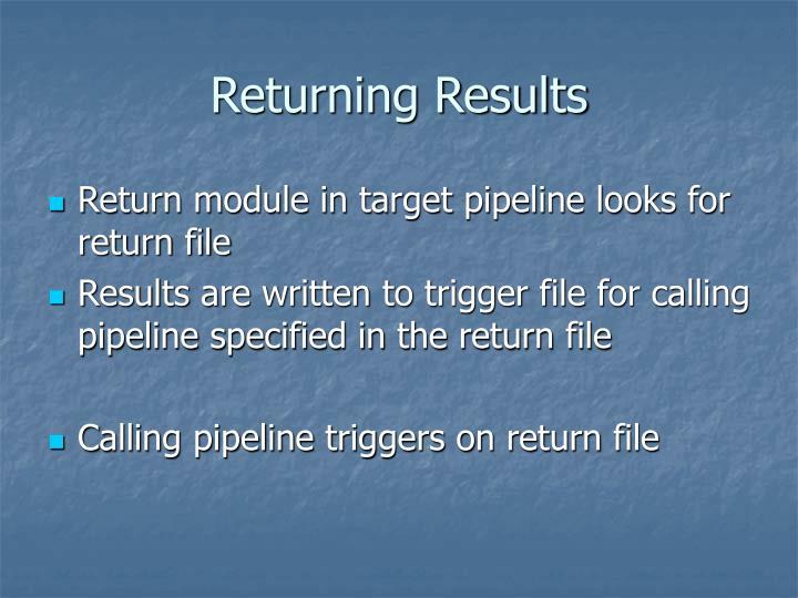 Returning Results