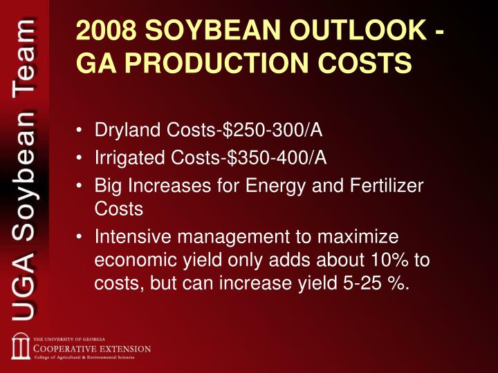 2008 SOYBEAN OUTLOOK -  GA PRODUCTION COSTS