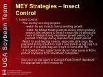 mey strategies insect control