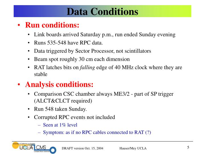 Data Conditions