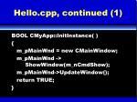 hello cpp continued 1