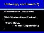 hello cpp continued 3