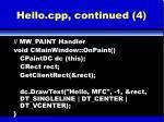 hello cpp continued 4