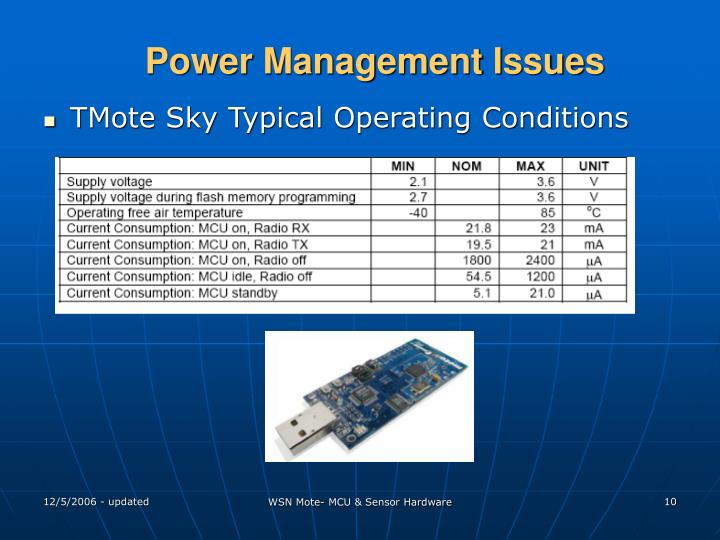 Power Management Issues