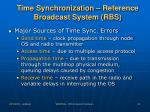 time synchronization reference broadcast system rbs