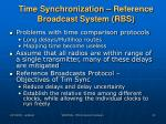 time synchronization reference broadcast system rbs1