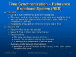 time synchronization reference broadcast system rbs2