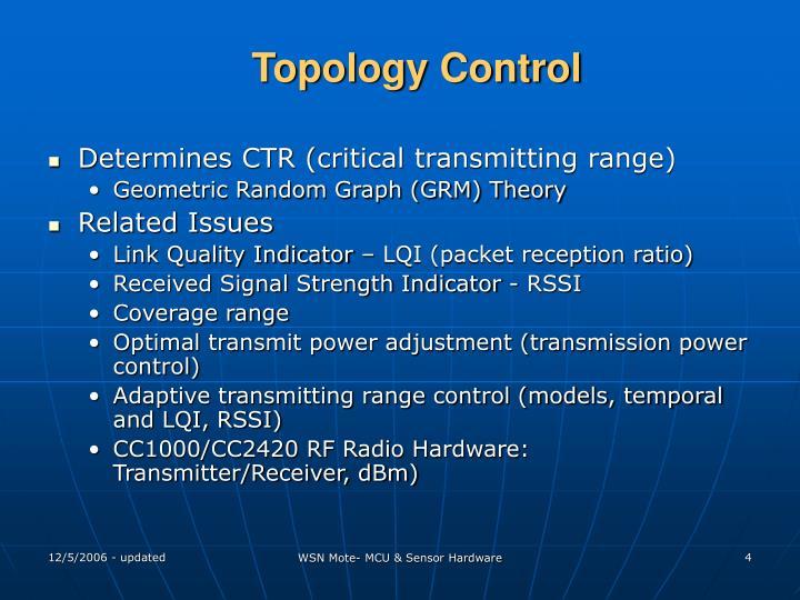 Topology Control