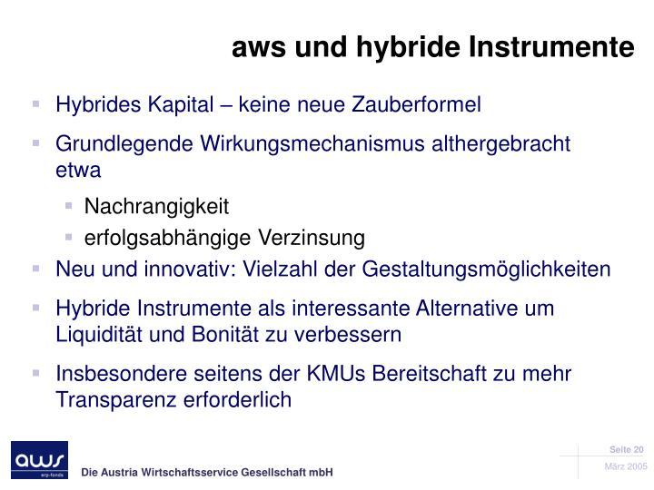 aws und hybride Instrumente