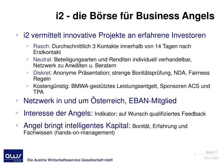 i2 - die Börse für Business Angels