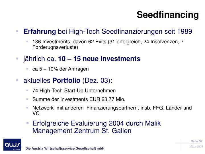 Seedfinancing