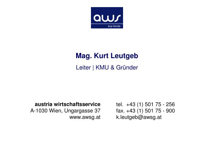 Mag. Kurt Leutgeb