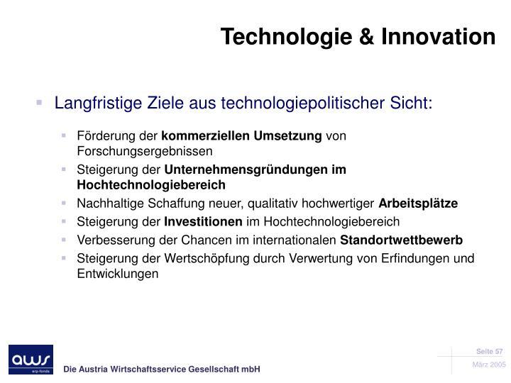 Technologie & Innovation