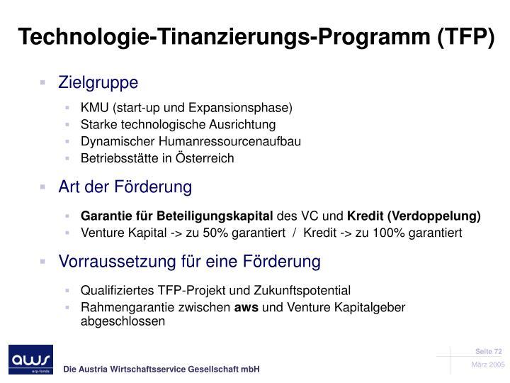 Technologie-Tinanzierungs-Programm (TFP)