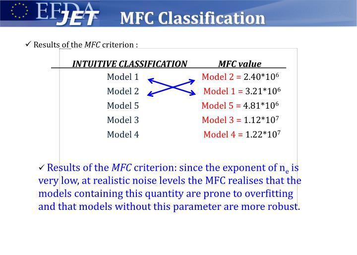 MFC Classification