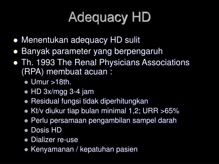 Adequacy HD