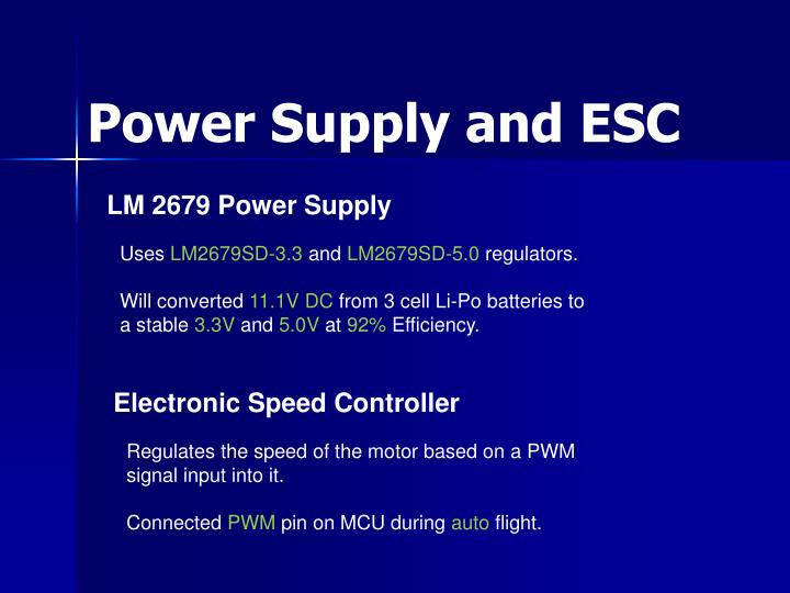 Power Supply and ESC