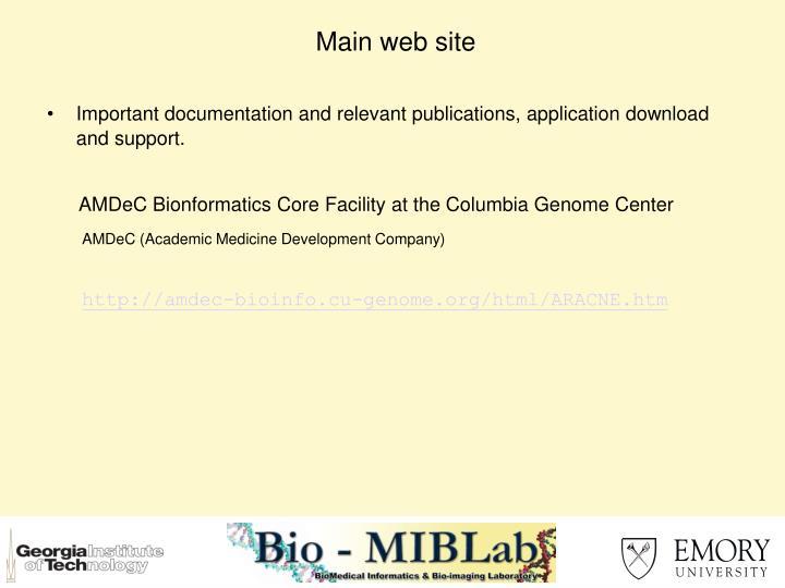 Main web site