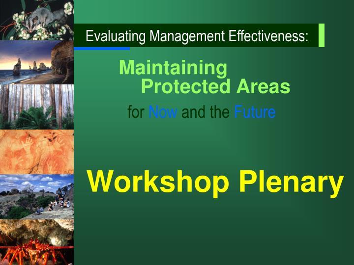 Evaluating Management Effectiveness: