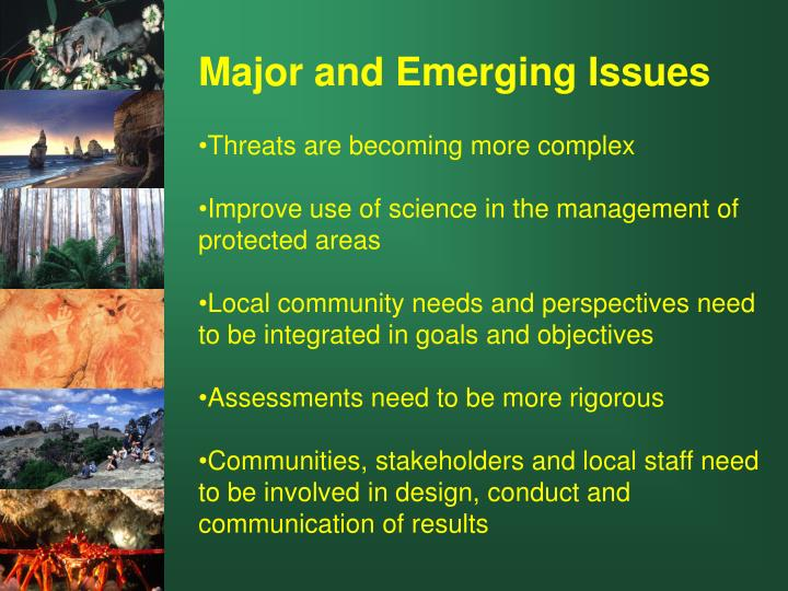 Major and Emerging Issues