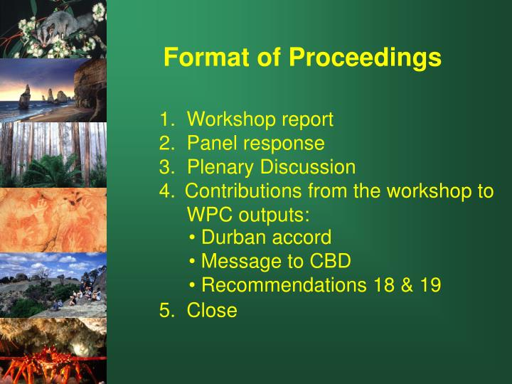 1.  Workshop report