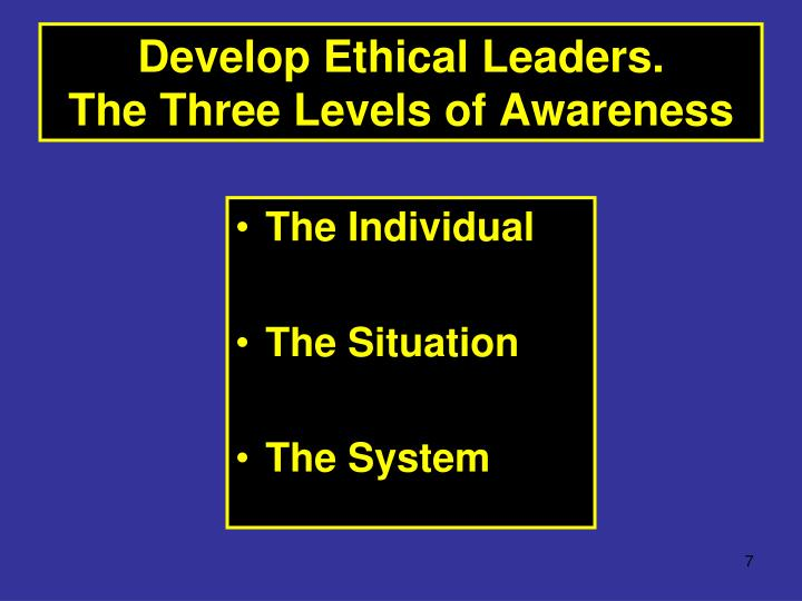 three levels of ethical leadership Based on social learning theory, we developed a moderated-mediation model of trickle-down effects to test how the ethical leadership of high-level leaders influences the ethical leadership of low-level leaders and the work outcomes of subordinate employees.