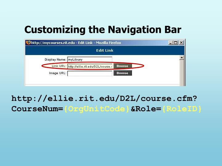 Customizing the Navigation Bar