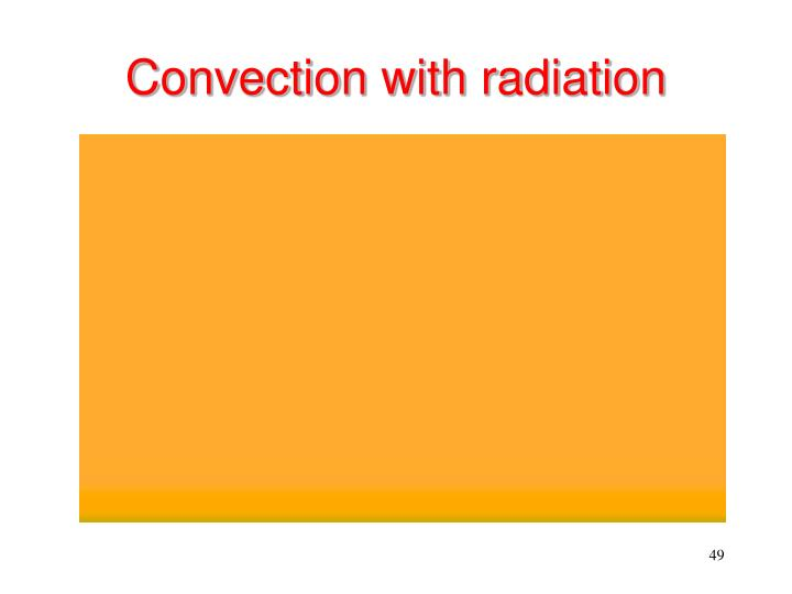Convection with radiation