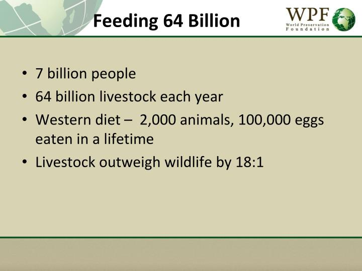 Feeding 64 Billion