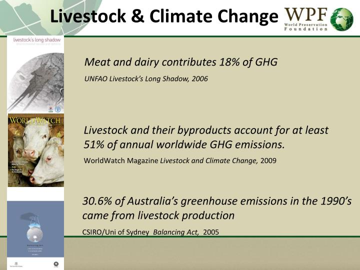 Livestock & Climate Change