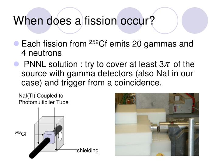 When does a fission occur?