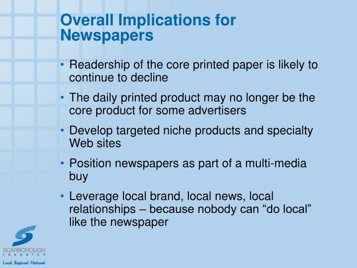 Overall Implications for Newspapers
