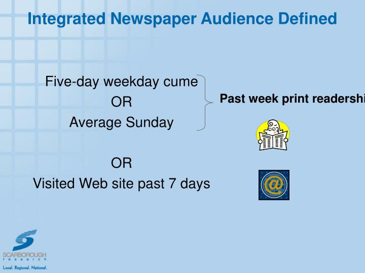 Integrated Newspaper Audience Defined