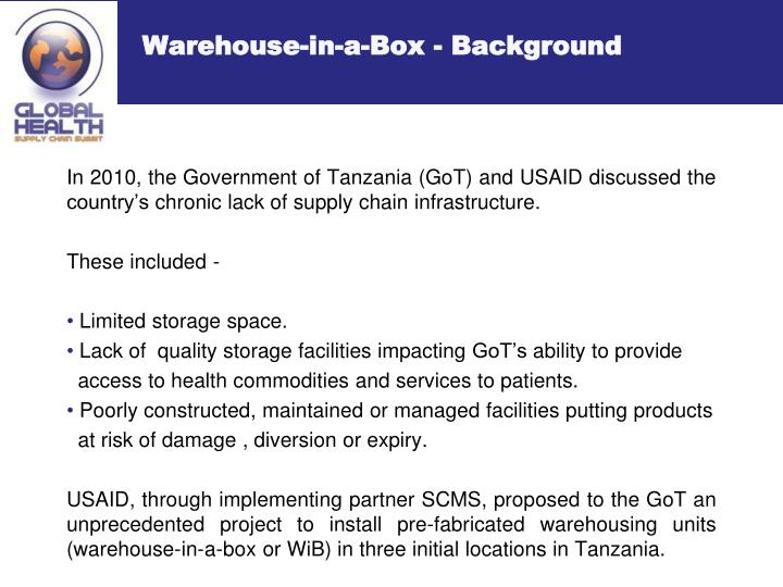 Warehouse-in-a-Box - Background