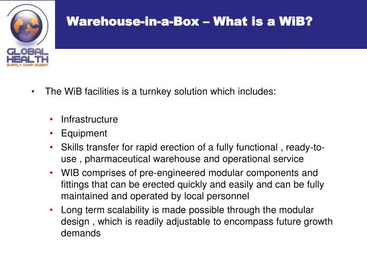 Warehouse-in-a-Box – What is a WiB?