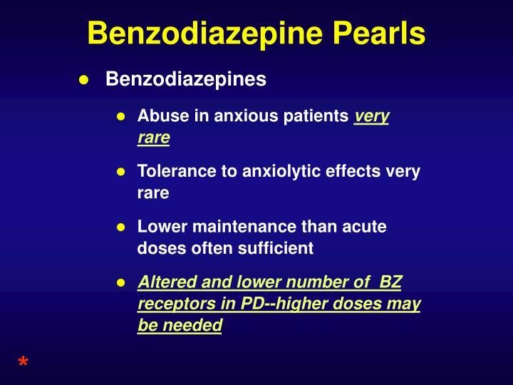 Benzodiazepine Pearls
