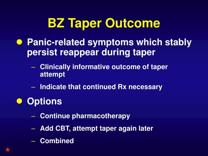 BZ Taper Outcome