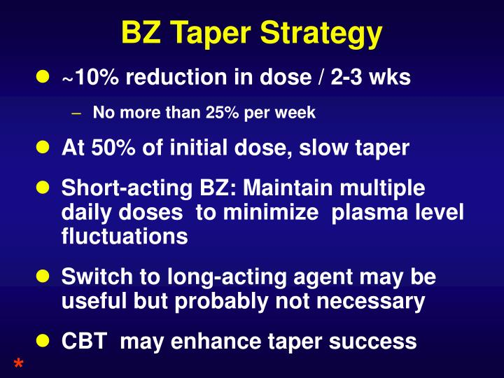 BZ Taper Strategy