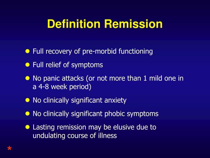 Definition Remission