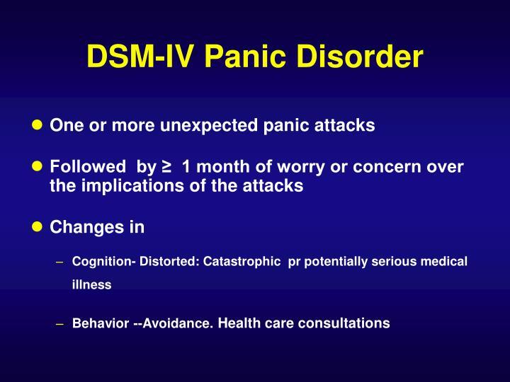 DSM-IV Panic Disorder