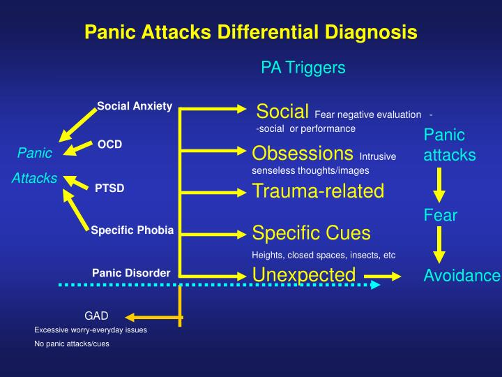 Panic Attacks Differential Diagnosis