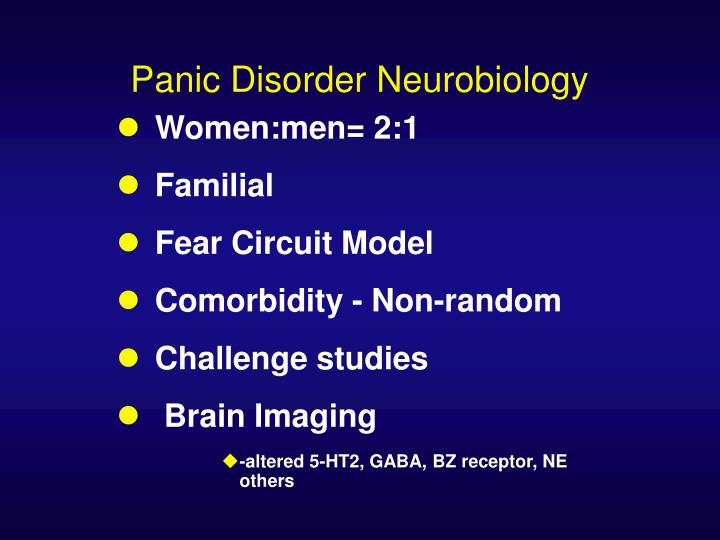 Panic Disorder Neurobiology