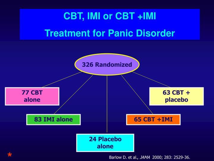 CBT, IMI or CBT +IMI