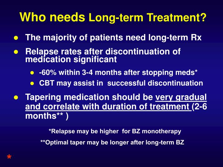 The majority of patients need long-term Rx