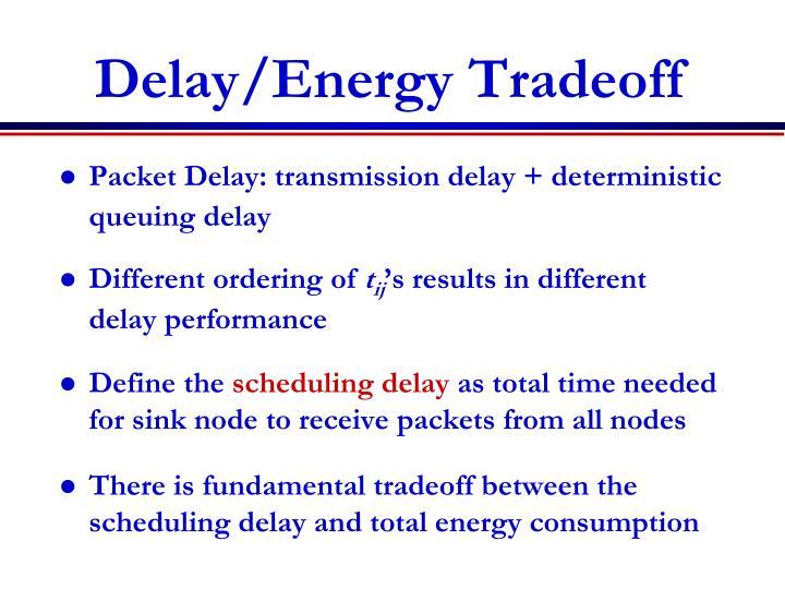 Delay/Energy Tradeoff