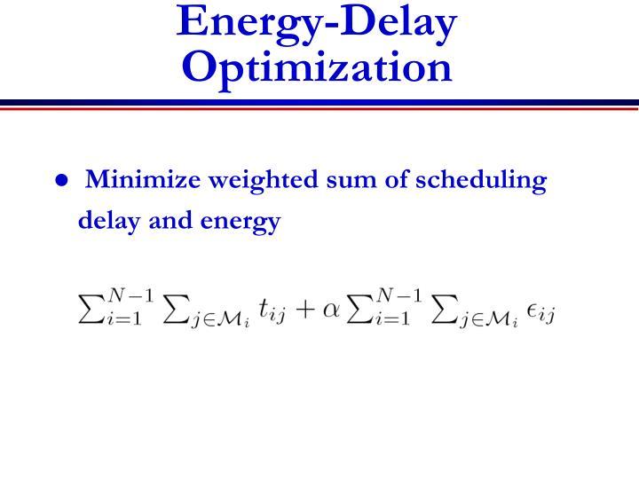 Energy-Delay Optimization
